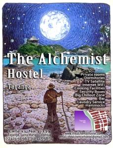 poster publi alchemist con mapa